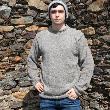 Men's Fisherman Roll Neck Sweater
