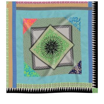 Geometric Ribbon Classic Silk Scarf