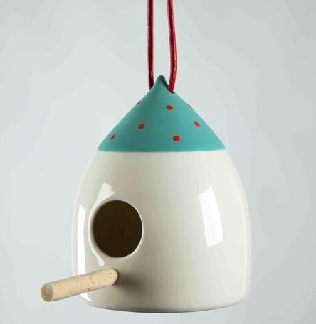 Porcelain Bird Feeder