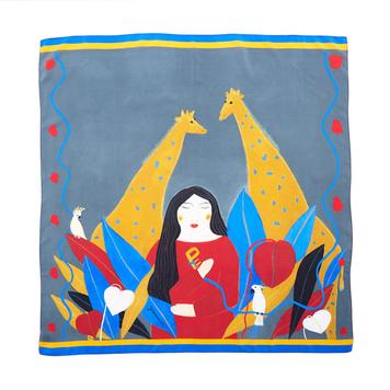 """""""Eden"""" silk scarf"""