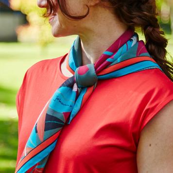"""Eden"" silk scarf in turquoise"