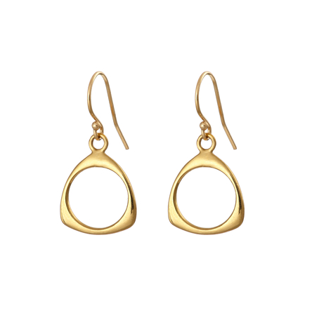 Gold Plated Trinity Drop Earrings