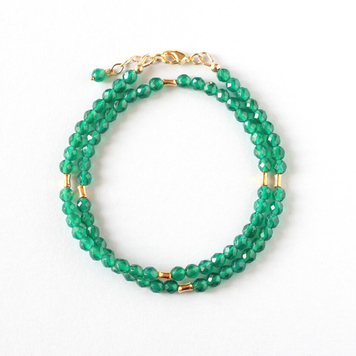 Green Agate Double Bracelet