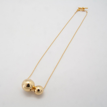 Two Gold Ball Necklace