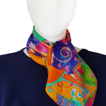 Mist and Moonshine Silk Neck Scarf