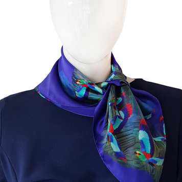 Hummingbird Silk Neck Scarf