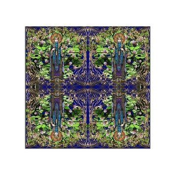 St Brigid Print Wool Medium Scarf