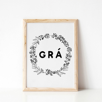 Grá 'Love' Irish Print