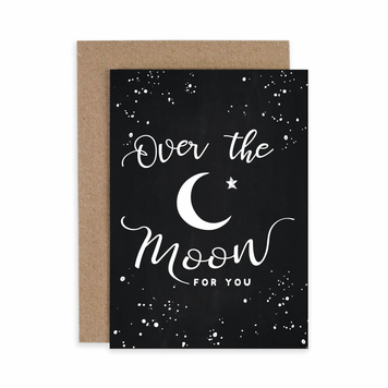 Over the Moon 'Congratulations' Card