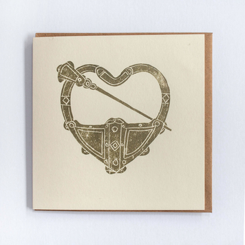 Tara Brooch Heart Card