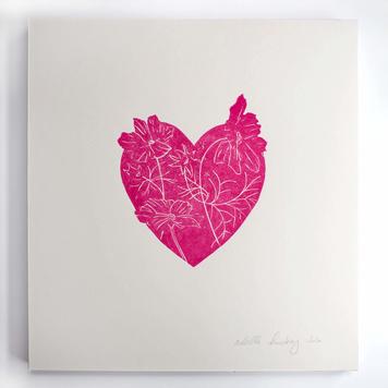 Floral Heart Print