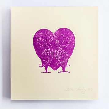 Two Birds Heart Print