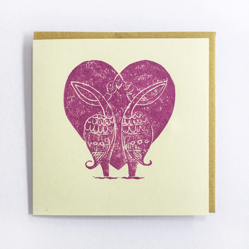 Two Birds Heart Card