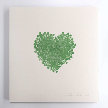 Shamrock Wreath Heart print