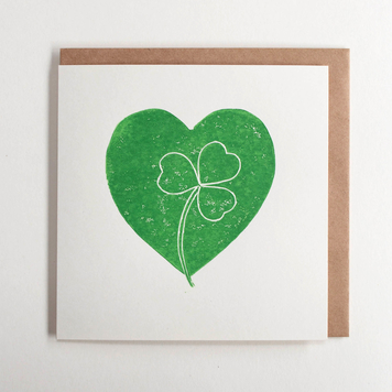 Shamrock Heart Card
