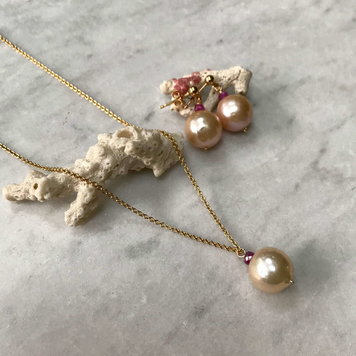 Pink Pearl & Pink Sapphire Set