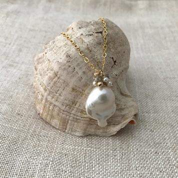 Baroque Pearl & Labradorite Pendant