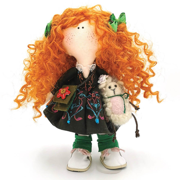 Grainne - Irish Handmade Collectible Doll