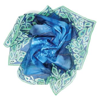 Seascape – Handpainted Silk Scarf