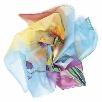 Iris – Handpainted Silk Scarf