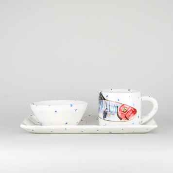 Small Rectangular Platter + Mug + Ramekin