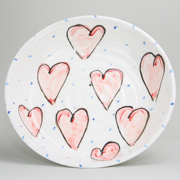 Large Heart Flat Bowl H24