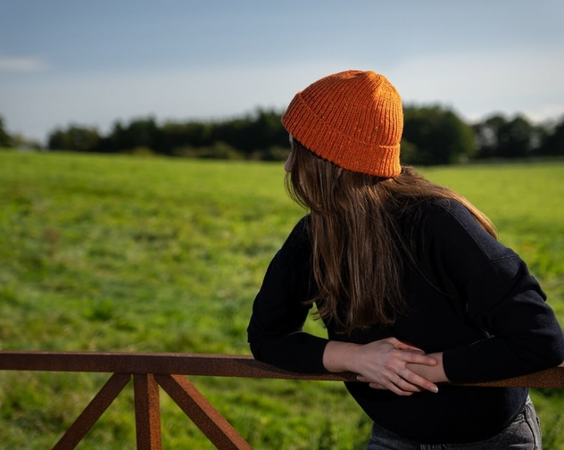 Orwell Browne Donegal Tweed Wool Hat Styled