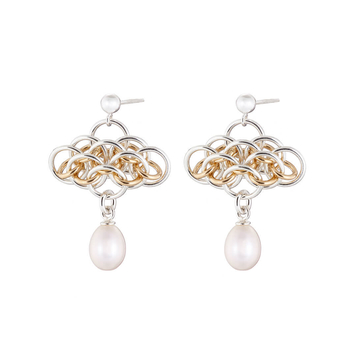 """NAIIAD """"Nymph Pearl"""" - Sterling silver/gold filled and freshwater pearls earrings"""