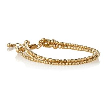 Mbr17001 Triple Strand Minimal Bracelet 14kt GF