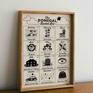 Riso Print - The Donegal Bucket List