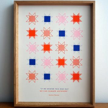 Riso Print - Seamus Heaney
