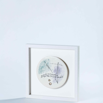 Wherever your heart is you will find your treasure – Compass Framed Tile