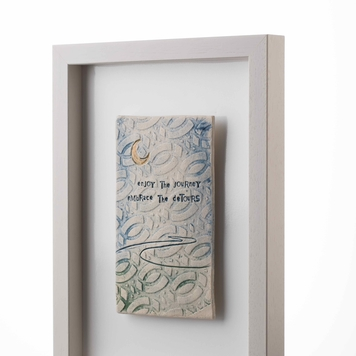 Enjoy the journey embrace the detours – Framed Tile