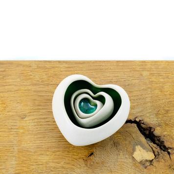 Ceramic hearts- Triple gift set