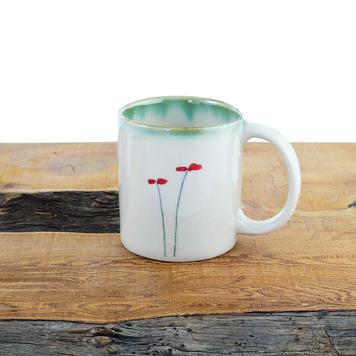 Espresso Mug Poppy Design