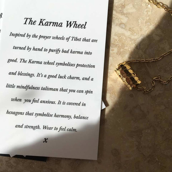 Karma Wheel Necklace Silver