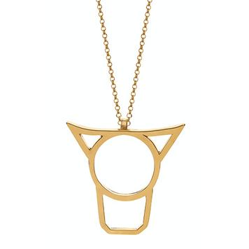 Cow's Head Pendant 18ct gold