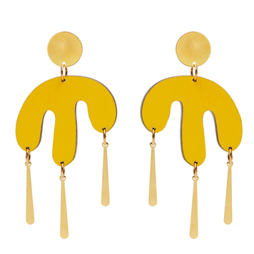 Megamelt earrings in Yellow