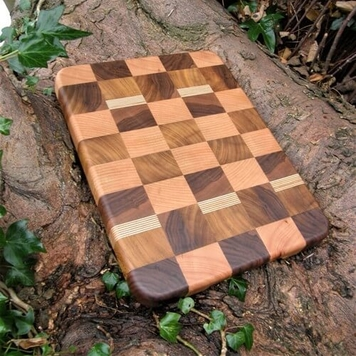 SCHOONER WAVE End Grain Chopping Board