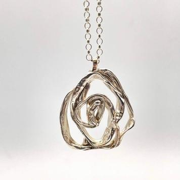 """Rose"" Silver Pendant"