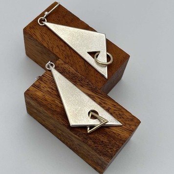 """Cascade"" Silver Earrings"