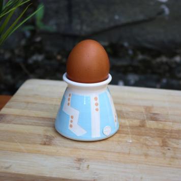 Malibu Blue Geo Egg Cup