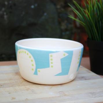 Malibu Blue Geo Bowl