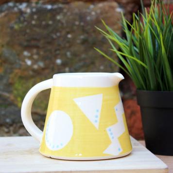Sunshine Yellow Geo Milk Jug