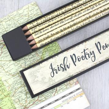 Irish Poetry Pencils