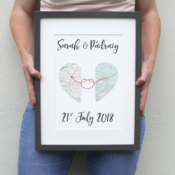 Love Knot Personalised Map Artwork