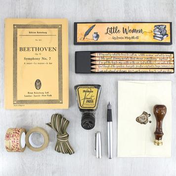 Little Women Book Quote Pencil Set