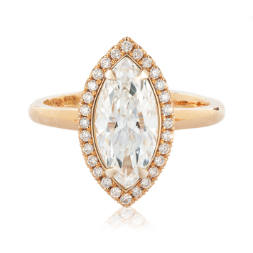 Leda Marquise Diamond Ring