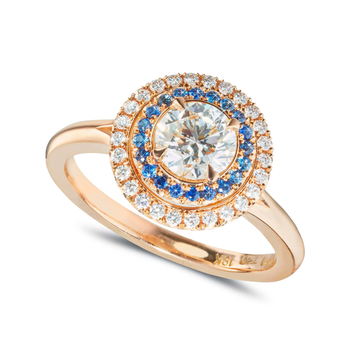 Orion Sapphire Halo Ring