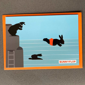 Bunnyflop Card - Pack of 5
